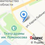Паллада на карте Архангельска