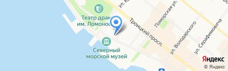 Соловецкое подворье на карте Архангельска