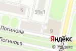 Схема проезда до компании ВиноГРАД в Архангельске