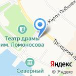 Областная детская библиотека им. А.П. Гайдара на карте Архангельска