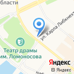 Архангельское межрегиональное территориальное управление воздушного транспорта на карте Архангельска