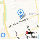 Средняя общеобразовательная школа №52 на карте Архангельска