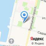 Подворье Антониево-Сийского монастыря на карте Архангельска