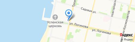 Архангельский молодежный театр на карте Архангельска