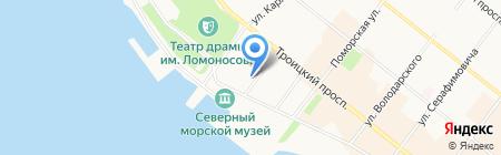 Отделение по делам несовершеннолетних отдела полиции Приморского района на карте Архангельска