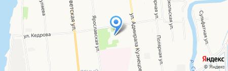 Средняя общеобразовательная школа №62 на карте Архангельска