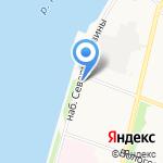 Дом на Набережной на карте Архангельска