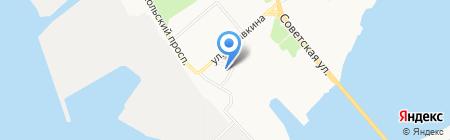 ПоморТехСтрой на карте Архангельска