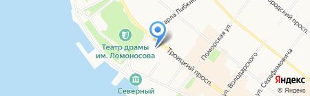 Сияние на карте Архангельска
