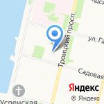 Багетка на карте Архангельска