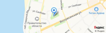 Гимназия №3 им. К.П. Гемп на карте Архангельска