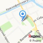 Золотая Нива на карте Архангельска