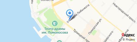 Калипсо на карте Архангельска