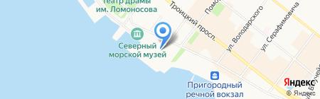 Город бабочек на карте Архангельска