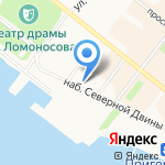 Детская музыкальная школа №1 на карте Архангельска