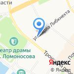 Троицкий Пассаж на карте Архангельска
