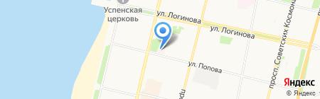 Архангельская городская детская поликлиника на карте Архангельска