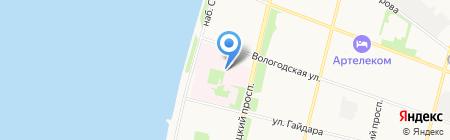 Северный медицинский клинический центр им. Н.А. Семашко Федерального медико-биологического агентства на карте Архангельска