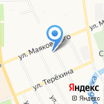 Компас на карте Архангельска