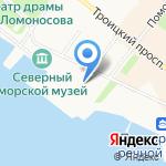 Двина-стом на карте Архангельска