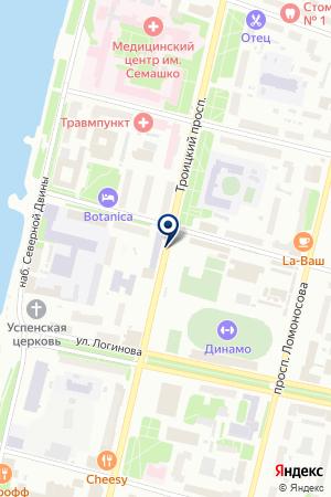 БЛАГОТВОРИТЕЛЬНЫЙ ФОНД ИОЛОЯ на карте Архангельска