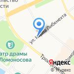 Командор на карте Архангельска
