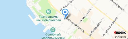 Защитник на карте Архангельска