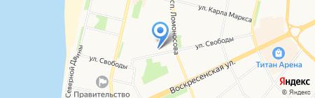 Перспектива на карте Архангельска