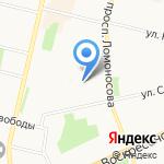 Агентство государственной противопожарной службы и гражданской защиты Архангельской области на карте Архангельска