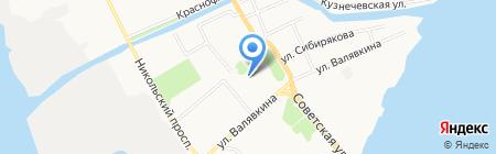Алмаз на карте Архангельска