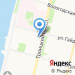 Белая роза на карте Архангельска