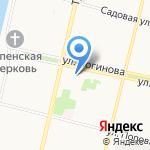 Высшая лига на карте Архангельска