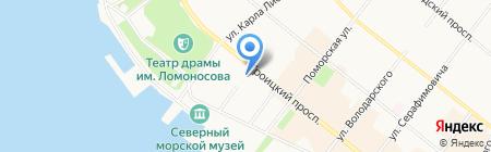 Кабинет психологической помощи на Троицком проспекте на карте Архангельска