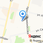 АС ЦЕНТР на карте Архангельска