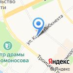 Технологии дорог на карте Архангельска