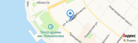 Архангельскгазстрой на карте Архангельска