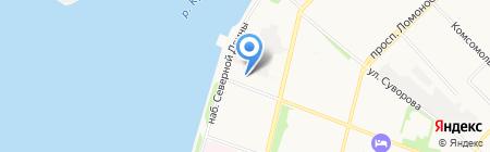 Рекко на карте Архангельска