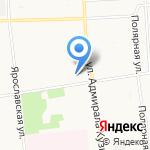 Почтовое отделение связи №13 на карте Архангельска