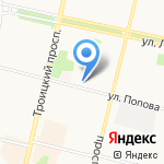 Инспекция Государственного строительного надзора Архангельской области на карте Архангельска