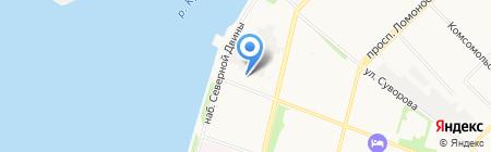 Обеспечение севера на карте Архангельска