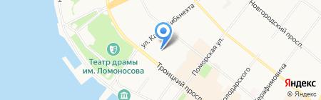 Региональное Управление ФСБ РФ по Архангельской области на карте Архангельска