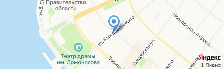 Шёлк на карте Архангельска