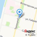 Киоск по продаже хлебобулочных изделий на карте Архангельска