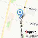 Грамотей на карте Архангельска