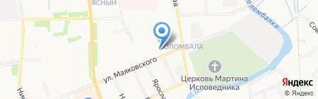 под мостом на карте Архангельска