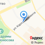 Архангельский страховой центр на карте Архангельска