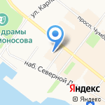 Банк Таврический на карте Архангельска