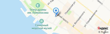ВМасштабе на карте Архангельска