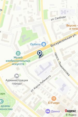 Адвокатский кабинет Семакова О.С. на карте Архангельска