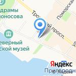 Усадебный дом Е.К. Плотниковой на карте Архангельска